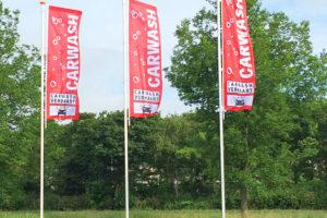 Vlaggen Carwash Verhaart